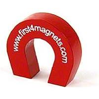 Imán expertos F4M802–40tamaño de bolsillo imán de herradura, rojo (Pack de 40)