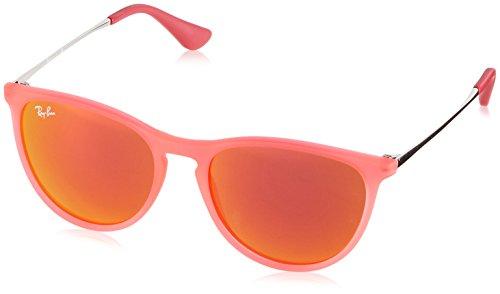 Ray Ban Unisex Sonnenbrille Izzy, Mehrfarbig (Gestell: Violett Silber, Gläser: Rot verspiegelt 70096Q), Medium (Herstellergröße: 50)