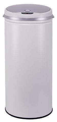 Kitchen Move BAT-42LI Design Originale Poubelle Sensor Automatique Blanc 31 x 74 cm