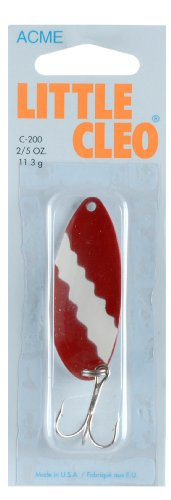 acme Little Cleo Fishing Terminal Tackle, rot weiß Nickel -