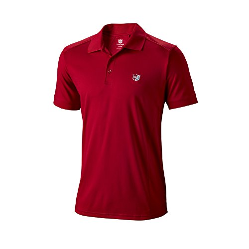 Wilson Golf Homme Polo de Sport, Performance Polo, Polyester, Rouge Red, Taille: L, WGA700303