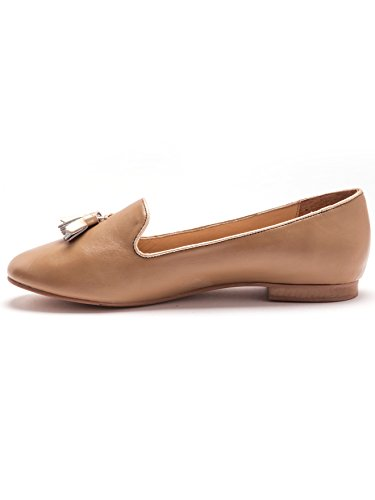 Beige Larghe Pantofole Di Larghezza Donna Balsamik Oro Pelle Di 04gqHHn