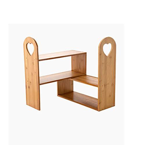 QWERTU Desktop Rack Free Deformation kann mit Massivholz Multi-Layer Storage Floor Küchengewürz in die Ecke getrieben Werden -