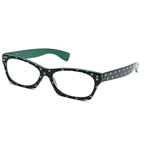 Vollformat- Bunt Lesebrille,Anti-müdigkeit Hd Die lesebrille Komfort passform Leichtes gewicht Portable Unisex-grün +1.5