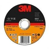 3M™ Cut off Wheel INOX, 125 mm x 1.6 mm x 22 mm, Type 41, 1 Wheel / Box