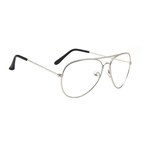 Pilotenbrille Brille Damen Herren Fensterglas Sonnenbrille Dekobrille Metallrahmen Klassisch
