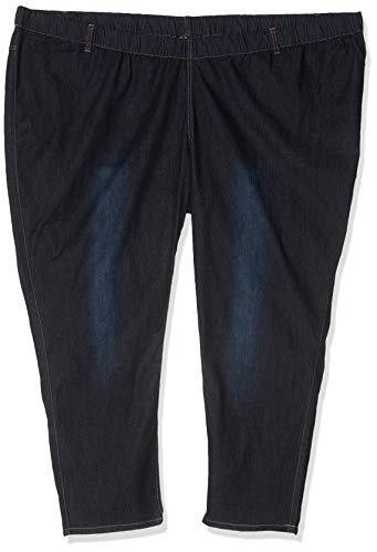 Ulla Popken Große Größen Damen Slim Skinny Jeans 69805494, Gr. 58, Blau (fashion denim 94)