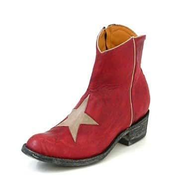 Mexicana Big Star Western Boots en red/fire/bone, Größen:39