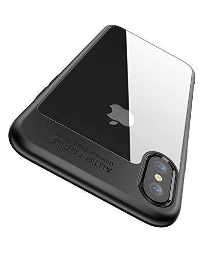 Funda iPhone XS, Funda iPhone X, Joyguard Funda para iPhone XS Carcasa iPhone XS Híbrido Rígido Plástico Espalda + Suave TPU Marco [Protector] [Ligero] [Anti-Rasguños] Case iPhone XS - 5.8 pulgadas - Negro