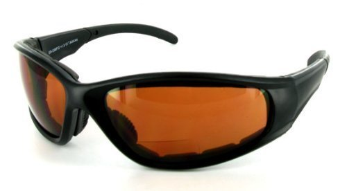 f7a19b1eef SPORTSTER - Amber 2.50 Bifocal Sunglasses   Safety Glasses with Non-Prescription  Reading Lens.