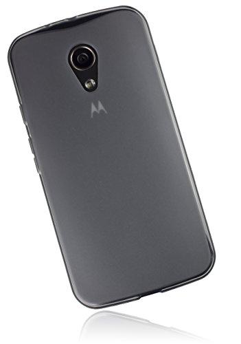 mumbi Schutzhülle Motorola Moto G 2. Generation Hülle transparent schwarz