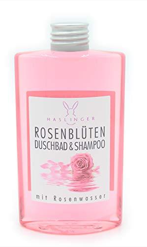 Rosenblüten Duschbad Shampoo mit Rosenwasser 200ml Haslinger Nr. 2902 -