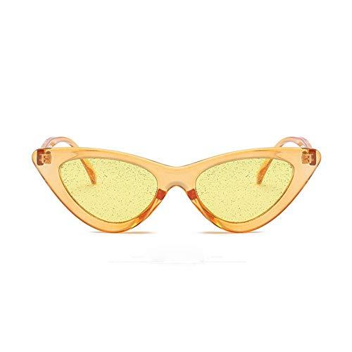 WZYMNTYJ Neue Cat Eye Frauen UV400 Sonnenbrille Candy Farbe Glänzende Vintage Cateye Sonnenbrille Für Frauen Brillen Weibliche Oculos de sol