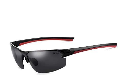 Miuno® Aluminium Sonnenbrille Polarisiert Sportsonnenbrille Federscharnier Polarized Herren Damen XD (XD325)