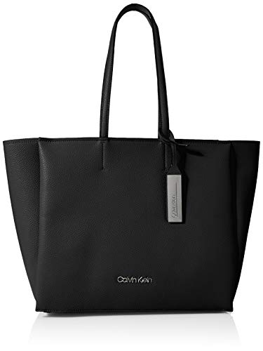 Calvin Klein Damen Sided Shopper Tote, Schwarz (Black), 16x32x40 cm