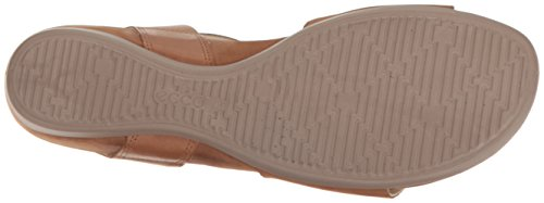 Ecco Womens Womens Touch 25 Hooded Wedge Sandal Camel/Whisky