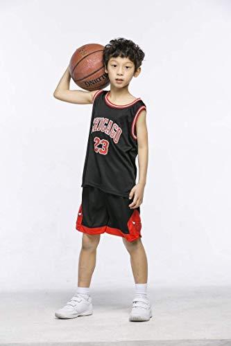 NBA Nr.23 Bulls Jordan Lakers James Nr.30 Warriors Curry Nr.11Warriors Thompson Nr.35 Warriors Durant Kinder Basketballanzug Basketball Trikots Jersey Set für Kid Jungen Mädchen (A, M(130-140cm))