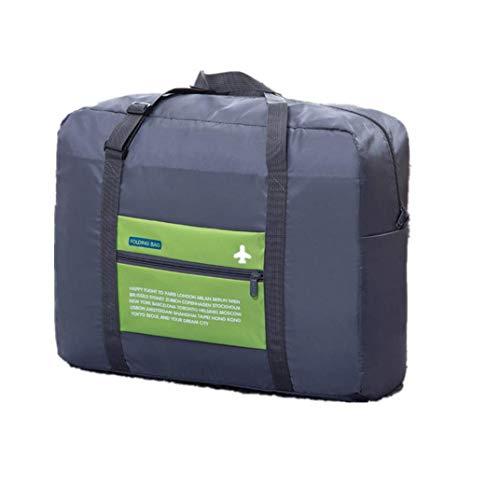 Calvinbi Tasche Gefaltet Reisetasche Große Kapazität Leichte Verdicken Wasserdicht Gepäcktasche Handgepäck Aufbewahrungstasche Quilt-Tasche Verpflegungspaket Luggage Wasserdicht Nylon