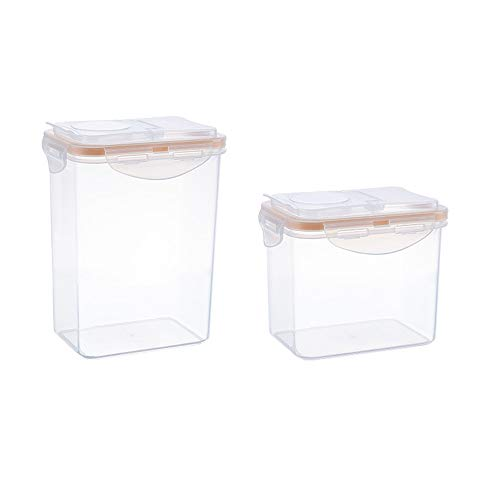 Premium Cereal & Dry Food Storage Container (1 l & 1.8L) mit Airtight Deckeln - Geeignet für Getreide, Mehl, Zucker, Kaffee, Reis, Snacks, Tiernahrung -