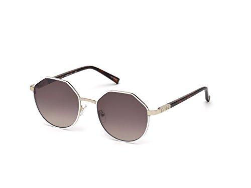 Guess Unisex-Erwachsene GU3034 24F 53 Sonnenbrille, Weiß (Bianco),