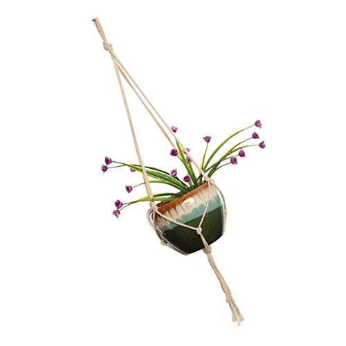 Kakiyi Blumen-Topf-Halter Hangeltau Hand Spann Pflanzen hängenden Korb Netz Beutel Bohe Garten Versorgungsanlagen Hanger