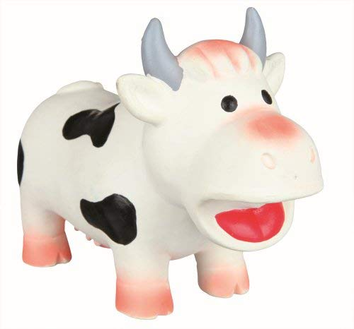 Trixie Latex-Spielzeug Kuh Quietschen, 19cm, - Hundespielzeug Kuh