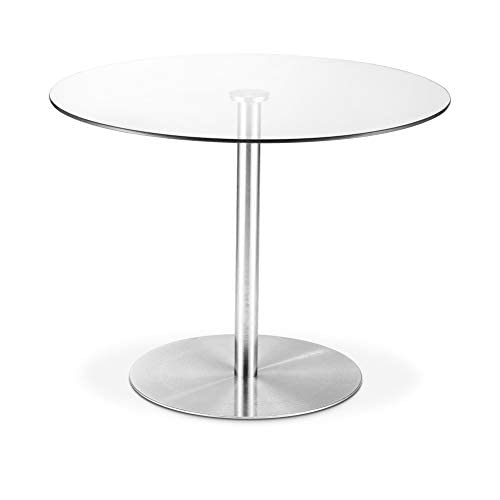 Julian Bowen Milan Dining Table, Steel/Glass