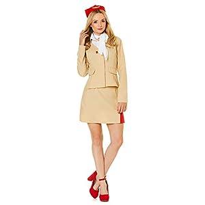 Karnival Air Stewardess Costume Disfraz Color marrón X-Large 81318