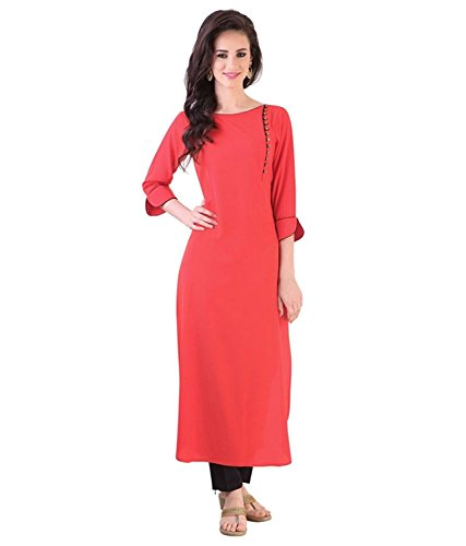 Muta Fashions Pink Kurti For Women\'s Kurtas for Girls Fabric (Fabric Of 2 mtrs)(Pink)(FABRIC02_01)