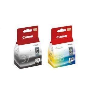 Canon PG37 / CL38 Original Tintenpatronen, 2-er Set mit 1 x schwarz/farbige tinten -