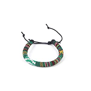 Surferarmband Made by Nami Boho Style - Freundschaftsarmband, Beach Bracelet, Surfer, Armband grün