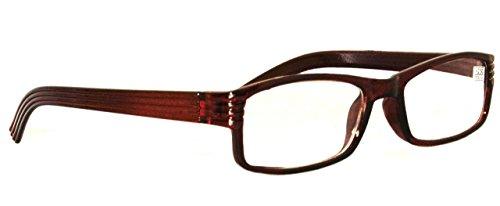 Plastic Full-Rim Ready Reading Glasses| Power: +1 |Brown color | Rectangular Fullframe for Presbiopic(Near vision user) | Ideal for Men & Women  available at amazon for Rs.199