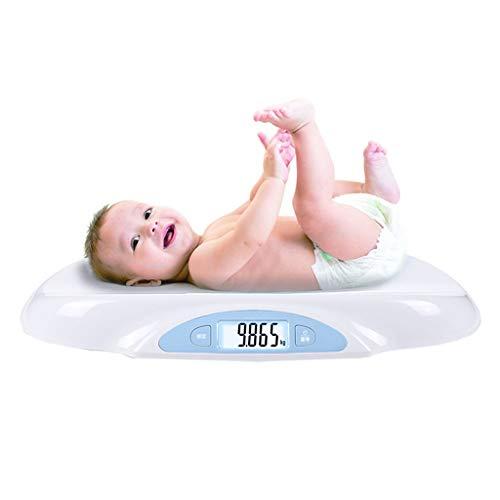 LWZ-Waagen Personenwaagen Elektronische Baby-Skala-Digital-hohe Präzision Baby-wiegende Badezimmer-Skala-Sicherheit Backlit-Anzeige Multifunktionskapazität 25kg Weiß