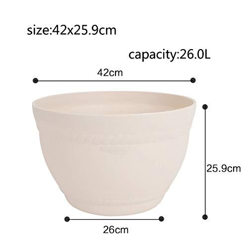 Indoor Plein air Créatif Rond Plastique Pot de Fleur Balcon Bonsaï Pot de Fleur-N 26L