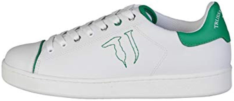 les chaussures de marche trussardi hommes baskets et formateurs rrp et baskets livre blanc; 109 ead2fc