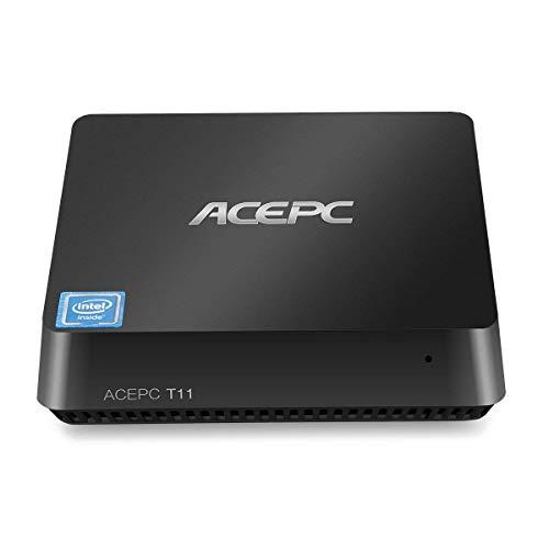 Mini PC Windows 10 Intel Atom x5-Z8350 Procesador 4GB Ram 64GB EMMC Admite 2.5 Pulgadas SATA SSD/HDMI y VGA Salida Doble/Banda Dual Wi-Fi/Bluetooth 4.0 / 4K Micro computadora de Escritorio …