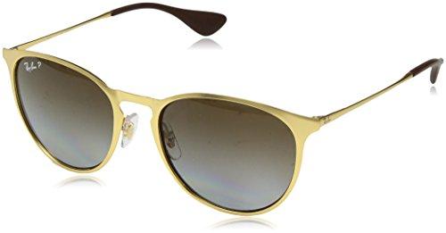 Ray-Ban Erika Metal Polarized Round Sunglasses MATTE GOLD 54 mm