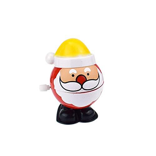 Togelei Weihnachtsmann Uhrwerk Roboter Spielzeug Wind Up Weihnachtsmann Bounce Spielzeug Lernspielzeug Kunststoff Lernspielzeug Springendes Spielzeug Holzspielzeug