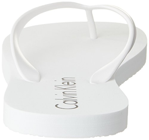 Calvin Klein Herren Zehentrenner Weiß (White 100)