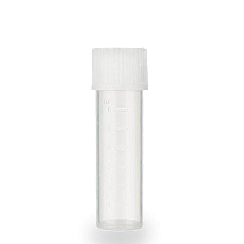 25x Zentrifugenröhrchen mit Schraubverschluss | Hochwertiges PP | 57xØ16mm | Volumen 8ml (Weiß) (Reagenzgläser Mit Drehverschlüsse)
