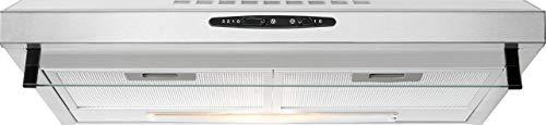 Bomann DU 623.3 Dunstabzugshaube Unterbau, Glas-Wrasenschirm, Umluft-oder Abluftbetrieb, 3 Leistungsstufen, LED Beleuchtung / 204,9 m³/h, Edelstahl-optik - Dunstabzugshaube Edelstahl
