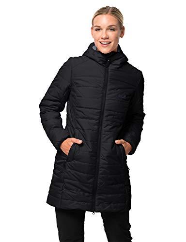 Jack Wolfskin Damen Maryland Coat Steppmantel Winddicht Wasserabweisend Atmungsaktiv Mantel, schwarz, L
