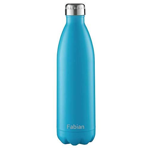 FLSK Isolierflasche 500ml Carribean blau mit Gravur ** Trinkflasche hält 18 Stunden heiß und 24 Stunden kalt, 100{e714e40e708f17ccfb94e0ee9c7ec4e77652bf1eda7e0af943218572093447f6} Dicht, Kohlensäurefest ** inkl. kostenloser Namensgravur