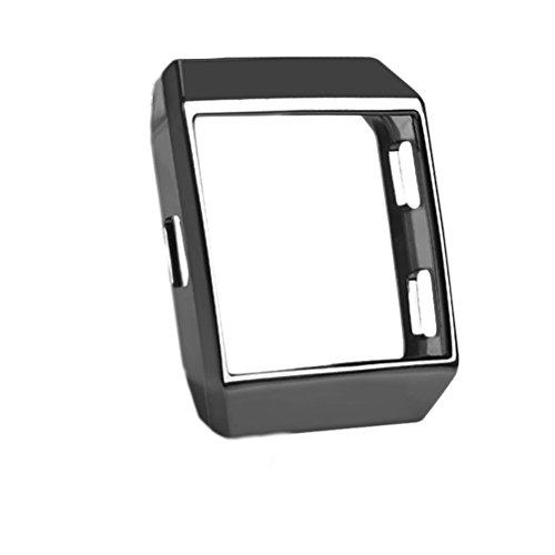 Hemobllo Stoßfest und bruchsicherer Uhrengehäuse-Schutzüberzug Schutzhülle für TPU-Schutzhülle für Fitbit Ionic (Schwarz) (Uhrengehäuse Schwarz)