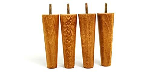 4x Massivholz Möbel Füße Ersatz Möbel Beine 154mm Höhe für Sofas, Stühle, Hocker–M8(8mm)–pkc347 Washed Oak (Ashley Furniture Bücherregal)