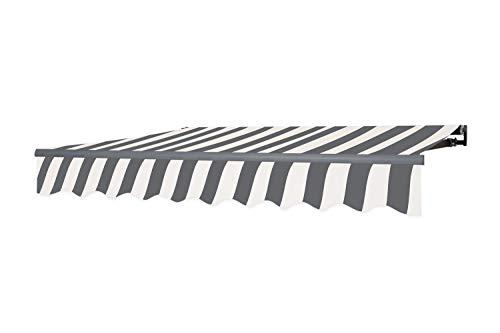 6 Leichte Deckenmontage (empasa Gelenkarmmarkise Markise Sonnenmarkise Sonnenschutz 3 x 2,5 m Alu/Polyester)