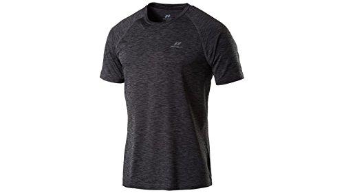 Pro Touch Herren Lauf-Rylu T-Shirt, Schwarz/Melange, XL