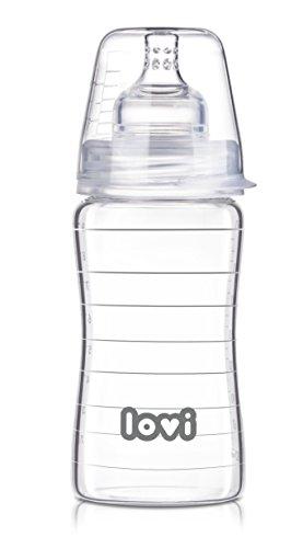 LOVI Pure - Biberón de cristal, 250 ml