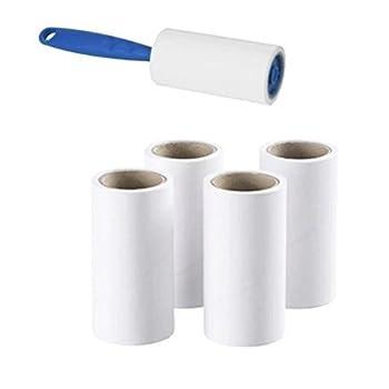 IKEA brosse adhésive + 4têtes de rechange Collant élimine facilement et rapidement les poils d'animaux, la poussière et les peluches des vêtements, meubles et sièges de voiture