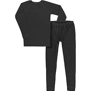 normani Kinder Kids Thermo-Unterwäsche Set (Oberteil + Hose) für Jungen und Mädchen aus Quick-Dry-Funktionsmaterial Thermoaktiv (ÖkoTex100)
